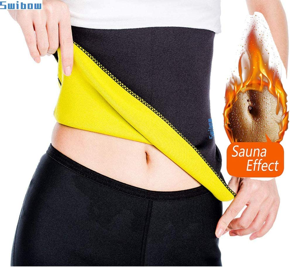 Waist Trainer Trimmer Belt for Weight Loss Neoprene Slimming Belt Sauna Fat Burner Sweat Corset Body Cincher for Women /& Men
