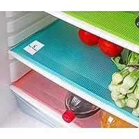 Kuber Industries™ Place Mats/Drawer Mats/Fridge Mats/Multi Purpose Mats/Refrigerator Mats Set of 6 Pcs (Multi)