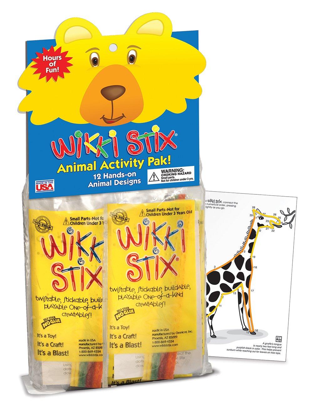 WikkiStix Animal Activity Pak, 12 individual Fun & Educational Favors