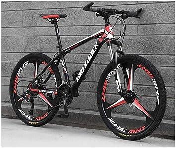 Wyyggnb Bicicleta De Montaña, Bicicleta Plegable De 26 Pulgadas Rueda Integral Suspensión Unisex MTB Acero De Alto Carbono De Doble Disco De Freno Estudiante (Color : E, Size : 30 Speed): Amazon.es: