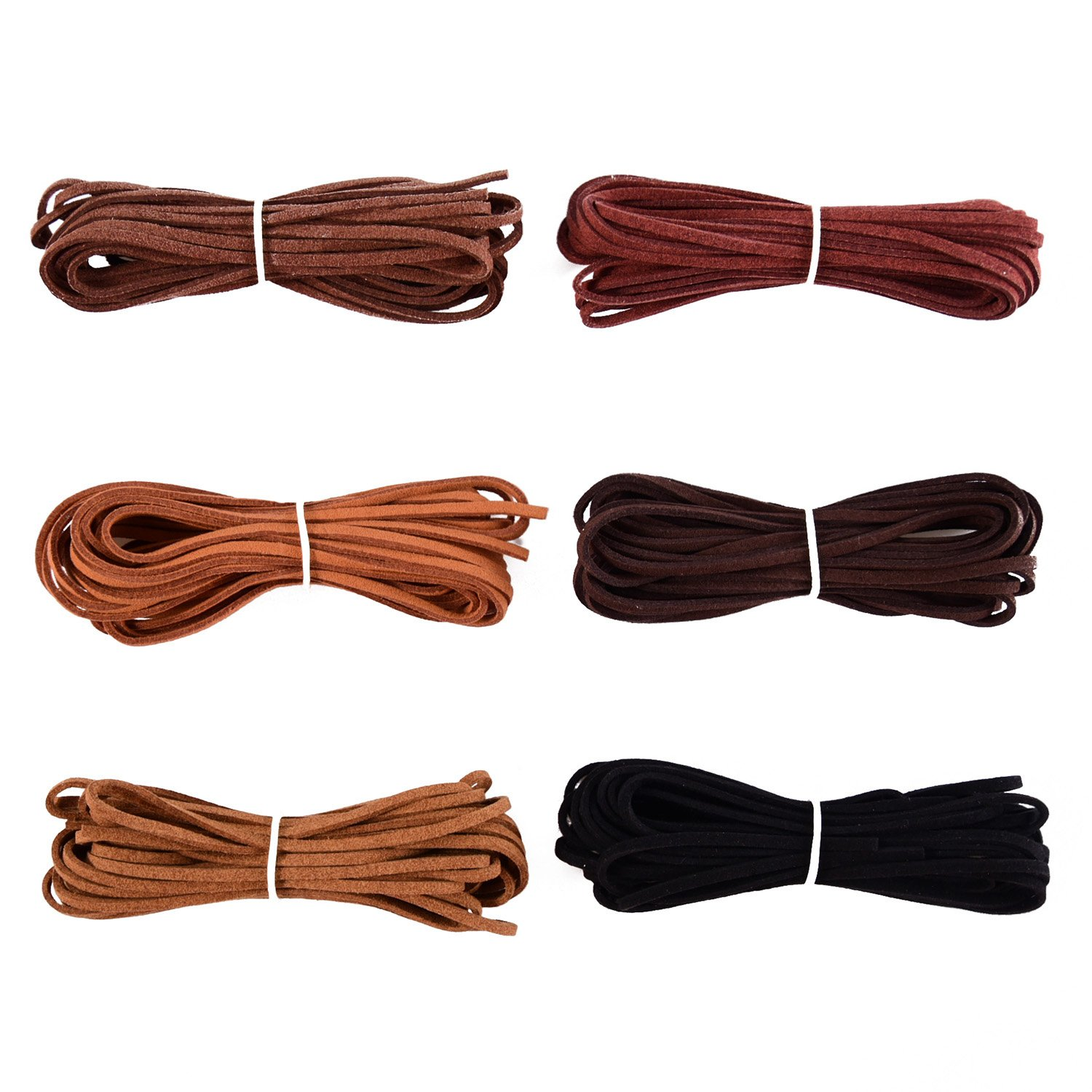 3 mm x 5 m Leather Cord String for Bracelet Necklace Beading Jewelry DIY Handmade Crafts, 6 Pieces, 6 Colors Shappy 4336861919