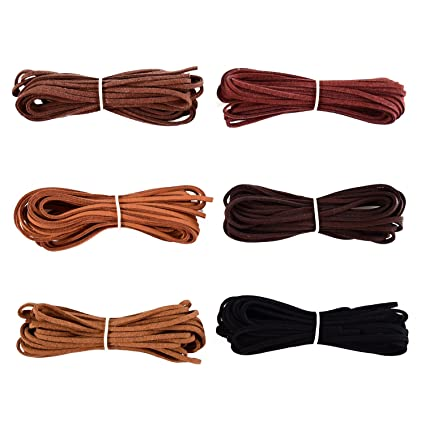5db7a5608204 3 mm x 5 m de Cuerda de Cuero para Pulsera Collar Fabricación de Bisutería y