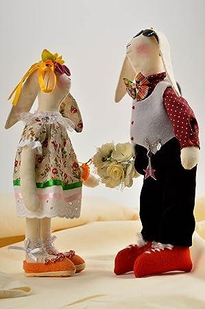 Conejos de peluche hechos a mano juguetes de tela regalos originales para ninos