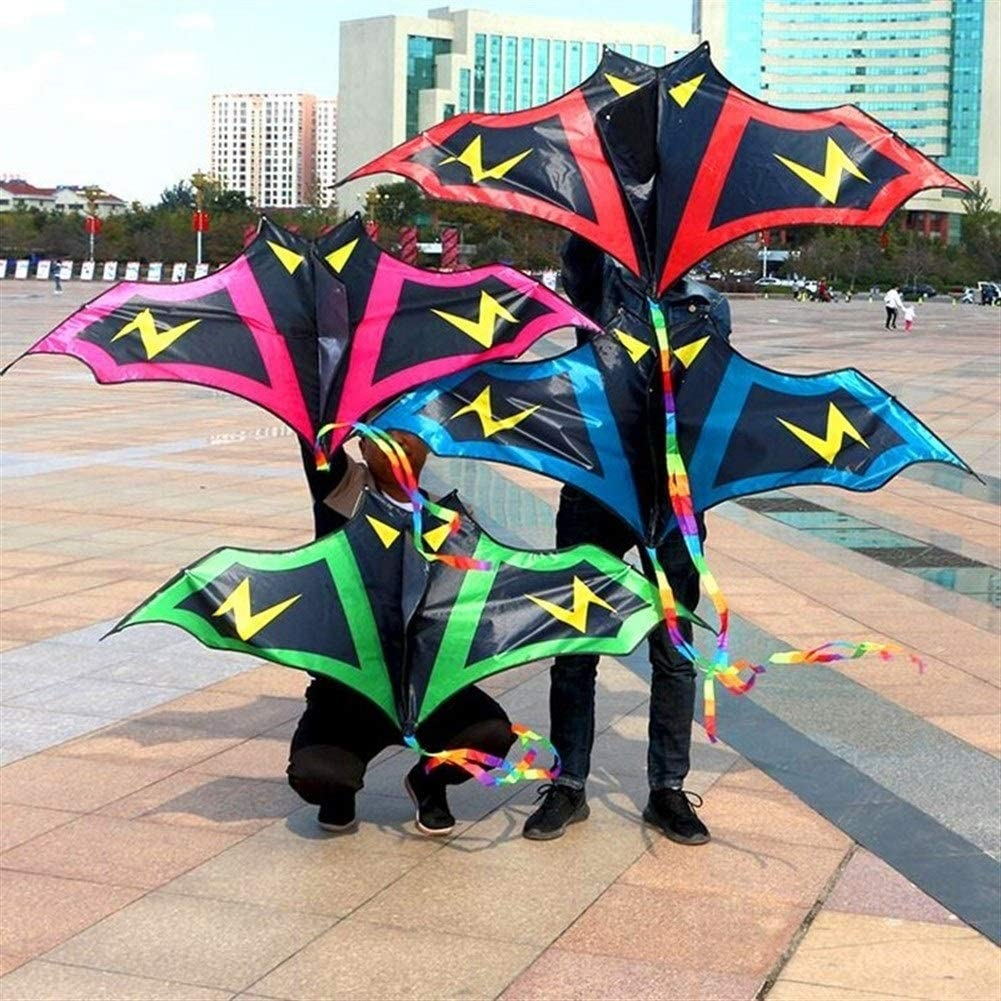 ARONG Grande Cerf-Volant Cerfs-Volants Enfants Kite Fun for Kids Facile de Voler avec Sports de Plein air Eagle Chauve-Souris Cerfs-Volants Le Toy Jeu Parfait pour Les activit/és en Plein air