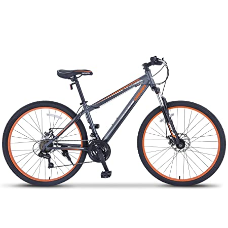 "Review ORKAN 27.5"" MTB Shimano Hybrid 21 Speed Mountain Bike Mountain Bike Grey & Orange"