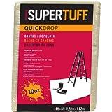 Trimaco SuperTuff 10 oz Thick Heavyweight Canvas Drop Cloth, 4-feet x 5-fee - 1