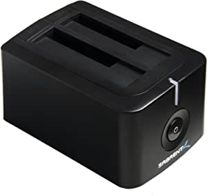 USB 3.0 to SATA Dual Bay External Hard Drive Docking Station for 2.5 or 3.5in HDD, SSD