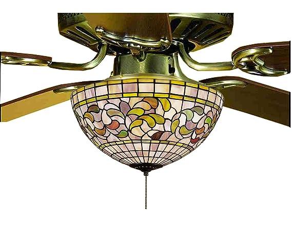 Victorian Tiffany Turning Leaf Fan Light Fixture Wall Porch Lights