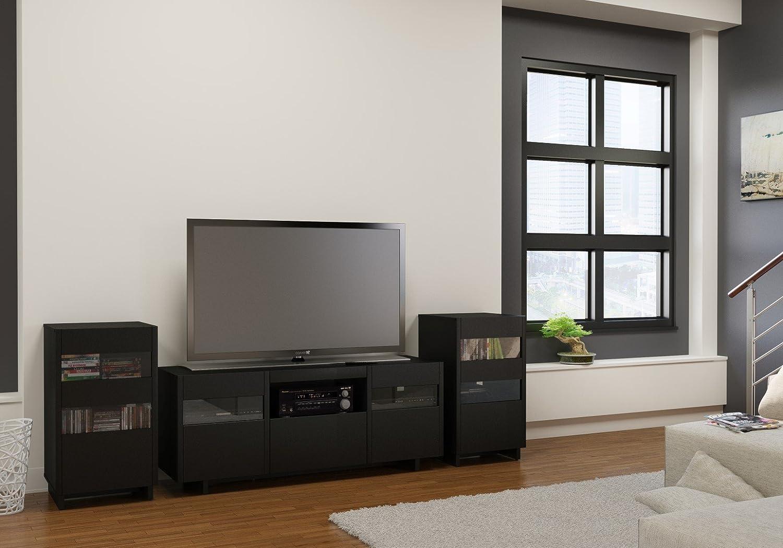 Amazon Vision 60 Inch TV Stand 101406 From Nexera Black Kitchen Dining