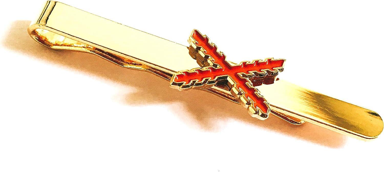 Gemelolandia Pasador de corbata Aspa de Borgoña Cruz de San Andres ...