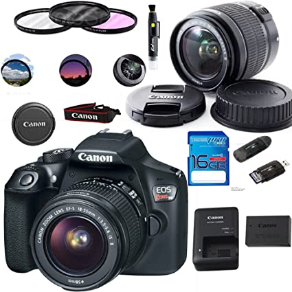 Amazon.com: Canon EOS 1300d/T6 EF-S 18 – 55 mm 18,7 MP CMOS ...