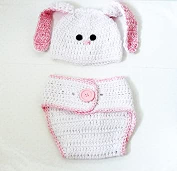 Amazon Crochet Bunny Hat And Diaper Cover Set For Baby 6 12