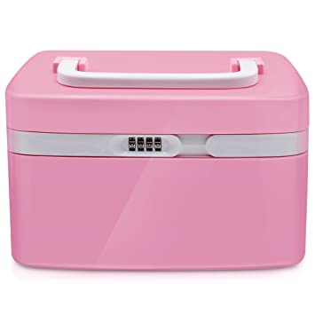Mermaid Cosmetics Box-Combination Lock Medicine Cabinet Coded Locks Storage Box with Separate Compartments  sc 1 st  Amazon.com & Amazon.com: Mermaid Cosmetics Box-Combination Lock Medicine Cabinet ...