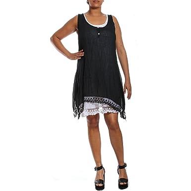 0d81baf690e Ladies Womens Lagenlook Boho 2 Piece Wash Effect Layered Button Maxi Midi Dress  Italian Linen Cotton