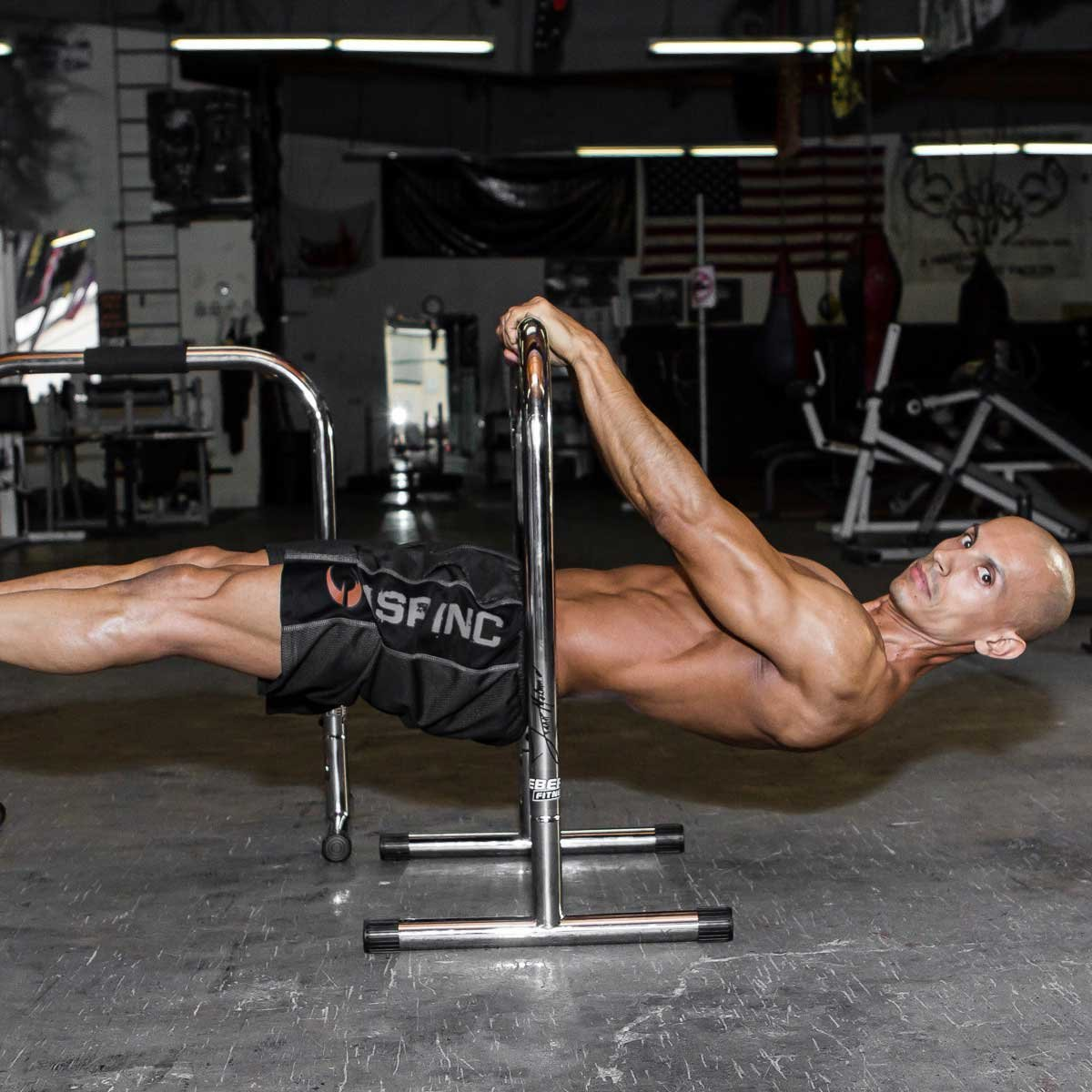 Lebert Fitness Equalizer Bars Total Body Strengthener, XL, Frank Medrano Signature, Chrome by Lebert (Image #5)
