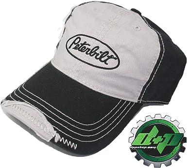 BD Peterbilt Motors Trucks Charcoal /& Red Snapback Mesh Cap//Hat
