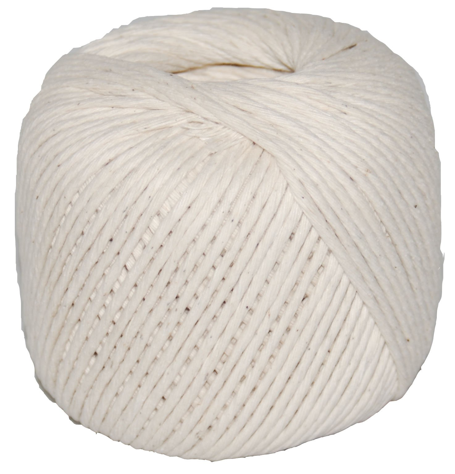 T.W Evans Cordage 09-248 Number-24 Polished Beef Cotton Twine with 500-Feet Ball