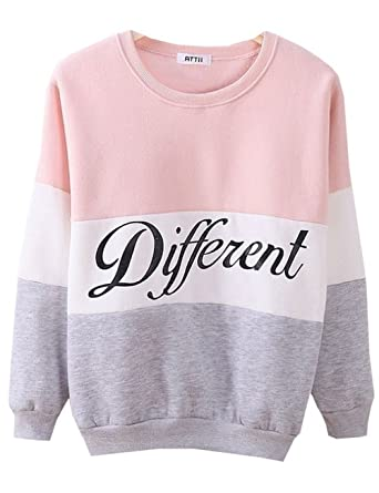 Cute Hoodies Sweater Pullover Letters Diffferent Printed Mix Color ...