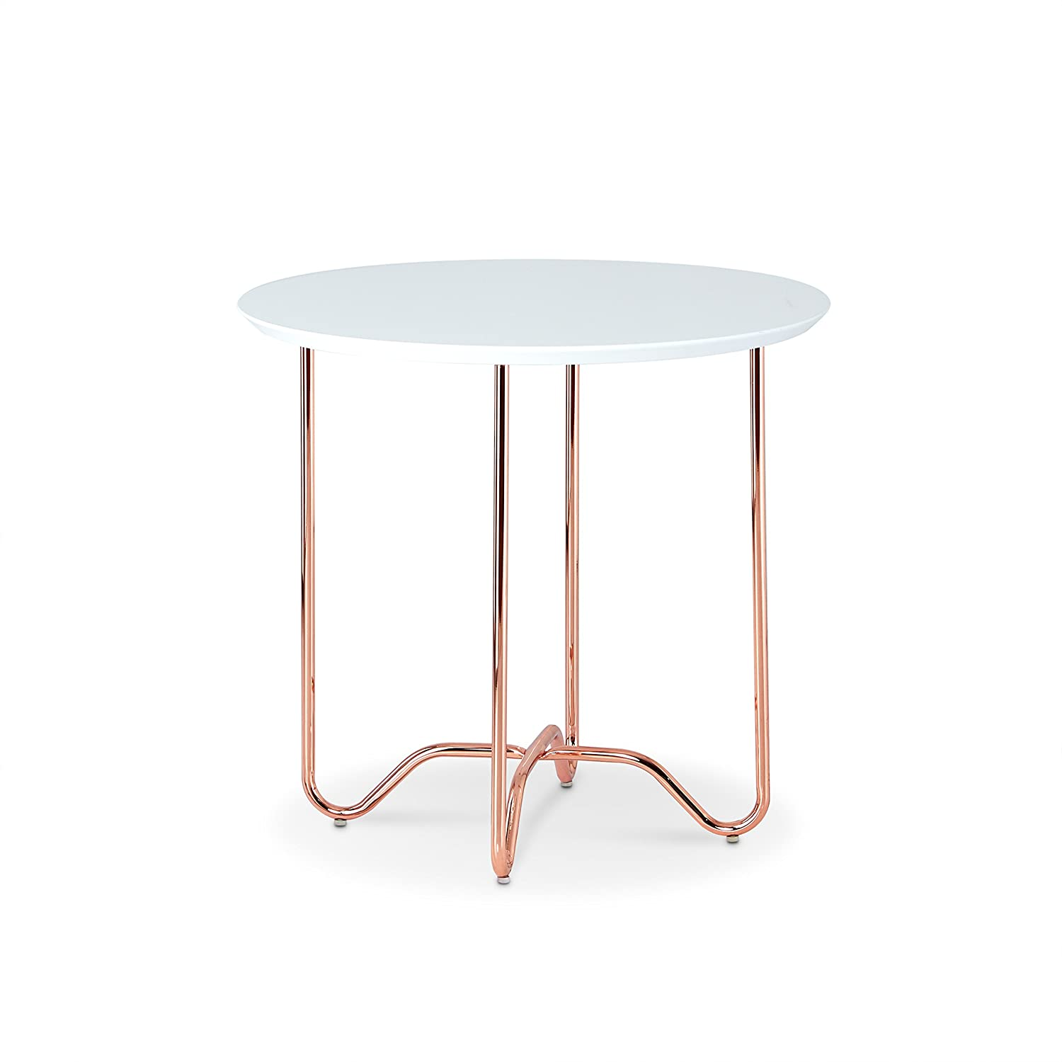 Amazon com acme furniture 81862 canty end table white rose gold kitchen dining