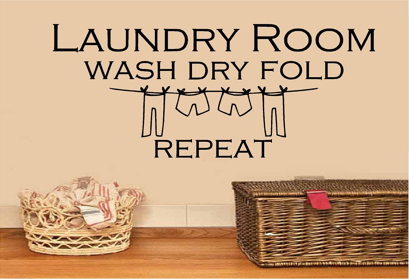 amazon com laundry room wash dry fold repeat vinyl wall decal amazon com laundry room wash dry fold repeat vinyl wall decal home decor quote saying wall letters home kitchen