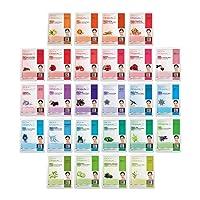 DERMAL 26 Red & Green Combo Pack Collagen Essence Full Face Facial Mask Sheet -...