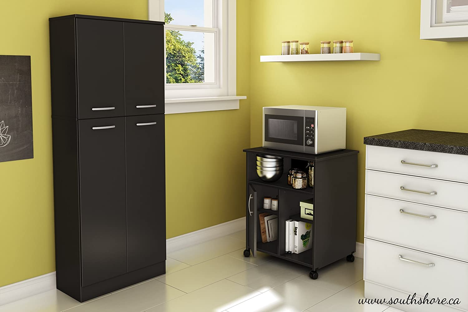 Amazon.com - South Shore Fiesta Microwave Cart with Storage on ...