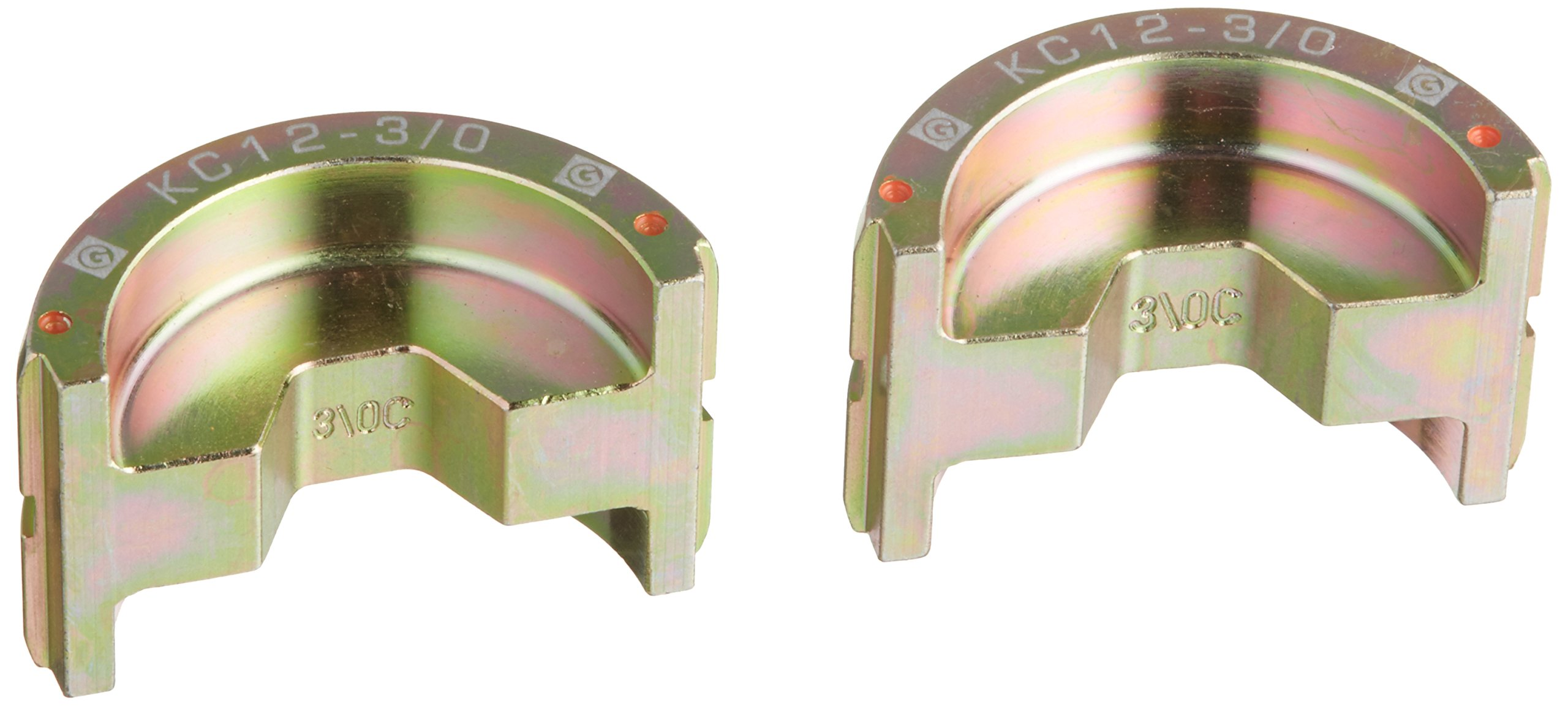Greenlee KC12-3/0 Crimping Die for Greenlee 12-Ton Tools, Copper, 3/0 AWG