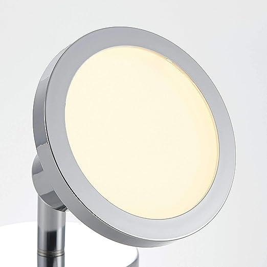 in Metallo ad es 1 luce, GU10, A++, lampadina inclusa Soggiorno /& Sala da pranzo di Lindby Lampada da incasso spot Ayden Faretto colore Argento applique Moderno plafoniera