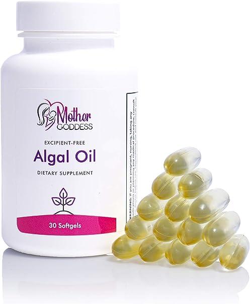 Mother Goddess Vegan Algal Oil Omega-3 Supplement | Hair, Skin, Nails, Breastfeeding, with DHA and EPA