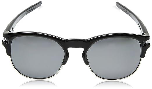 Oakley Herren Sonnenbrille Latch Key 939406, Schwarz (Polished Black/Blackiridiumpolarized), 55