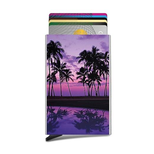 Beach Tumblr Palm Fashion - Tarjetero unisex automático para ...