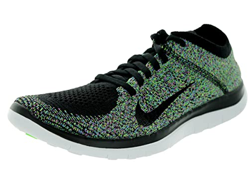 separation shoes 4f692 b7e09 Nike Women s Free 4.0 Flyknit Black Black University Bl Elctrc Grn Running  Shoe