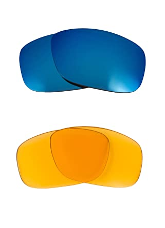 aaaa02b555 Image Unavailable. Image not available for. Color  FLAK 2.0 XL Replacement  Lenses Hi Intensity Yellow   Blue by SEEK fits OAKLEY