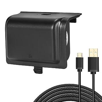 Kingtop Cargador de Batería 1200mAh Batería Recargable para el Regulador de Xbox con un Cable USB 3M Cargando Controladores para Xbox One, Xbox One S, ...