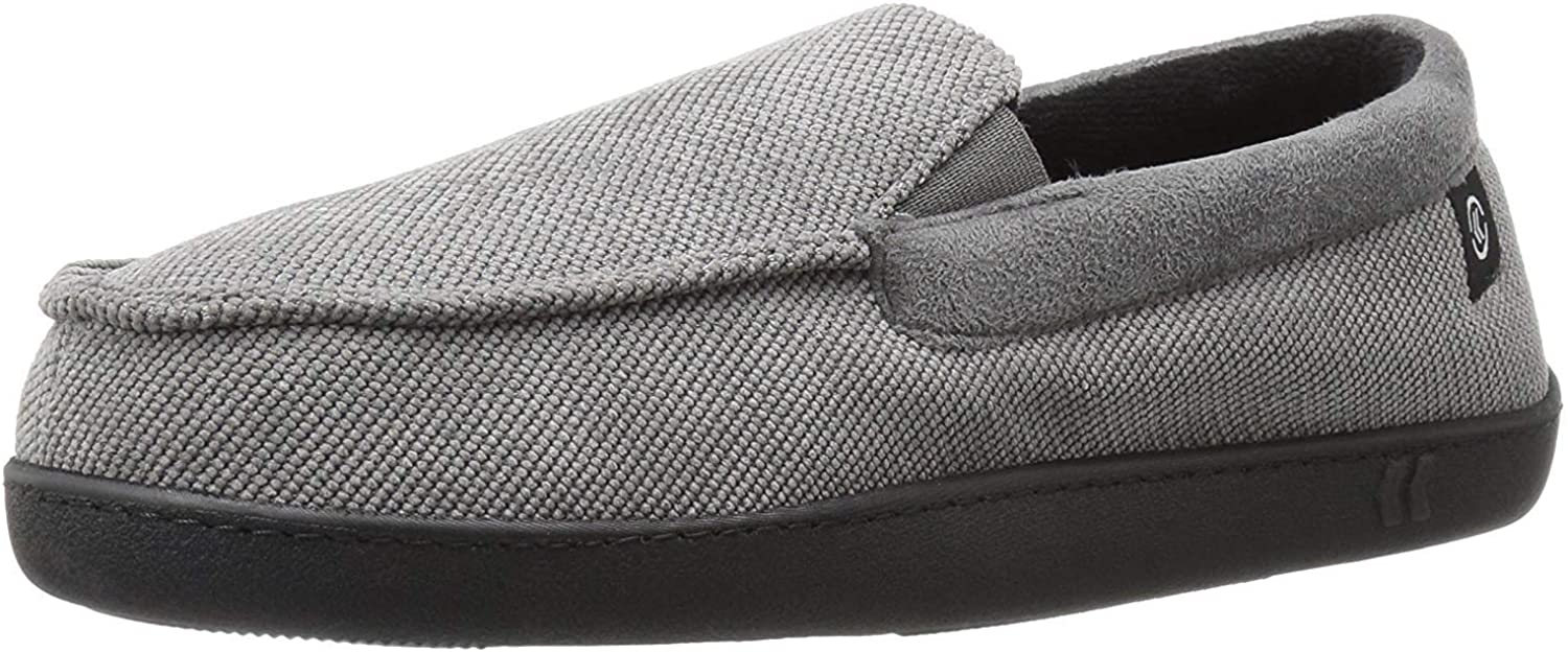 isotoner Men's Corduroy Gel Infused Memory Foam Moccasin