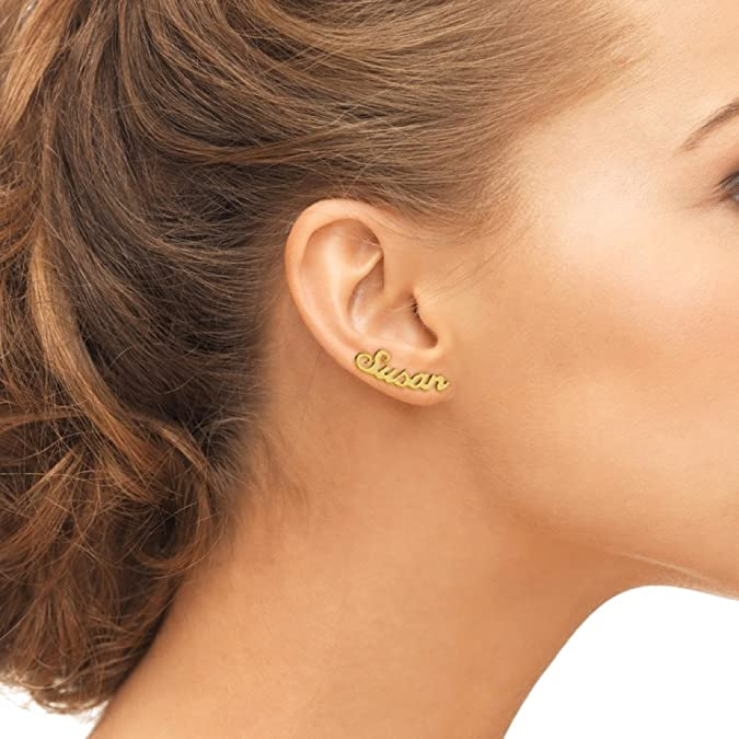 0f2b82f038e7d Initial Earrings - Name Earrings, Personalized Name Earrings, Custom  Earrings Stud