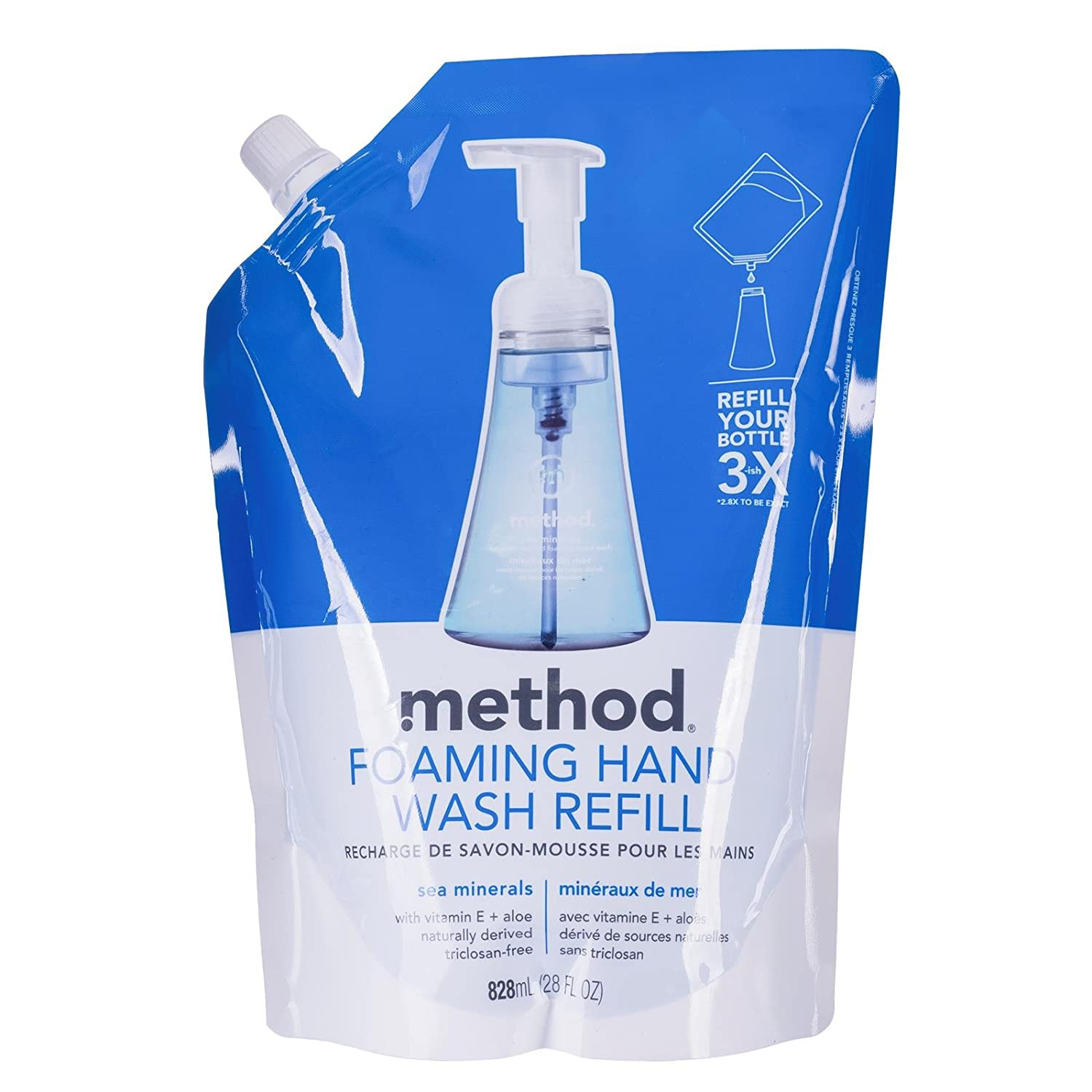 Method Foaming Hand Soap Refill, Sea Minerals, 28 Ounce