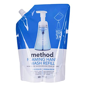 32e73b4a048e Method Foaming Hand Soap Refill, Sea Minerals, 28 Ounce