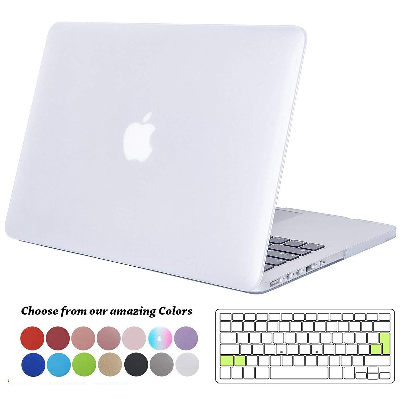 Modelo: A1466 // A1369 Delgado Cubierta Pl/ástico Dura Case Carcasa con Tapa del Teclado para MacBook Air 13.3 Pulgada Versi/ón: 2010-2017 Tecool Funda MacBook Air 13 Pulgadas - Frost