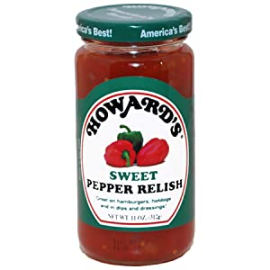 HOWARD'S Premium Sweet Pepper Relish | Gluten Free, All Natural | Perfect for Hamburgers, Hotdogs and Dips | 1 pack ( 11 ounce )