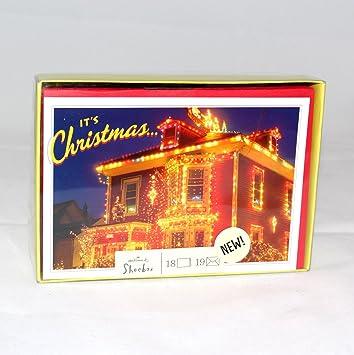 hallmark shoebox its christmas holiday greeting cards 18 cards in box sbx2834 - Shoebox Christmas Cards