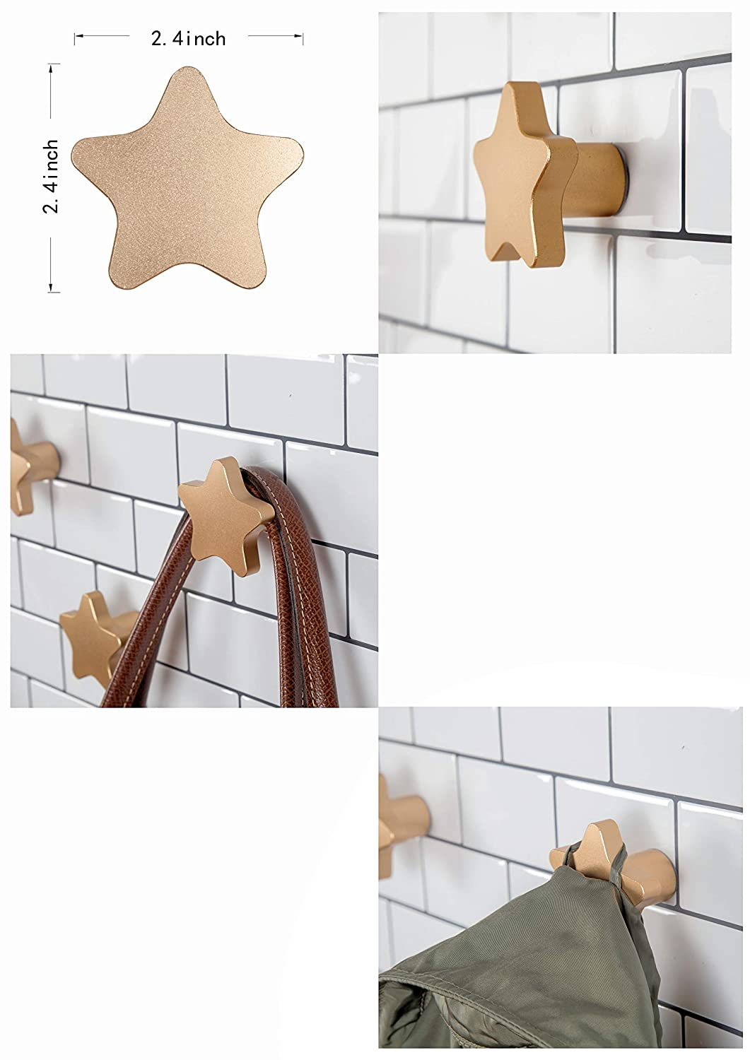 Amazon.com: Perchero de aluminio para colgar en la pared ...
