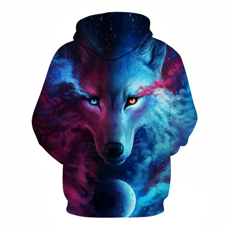 Wolf 3D Hoodies Sweatshirts Men Women Jacket Casual Tracksuits Coats