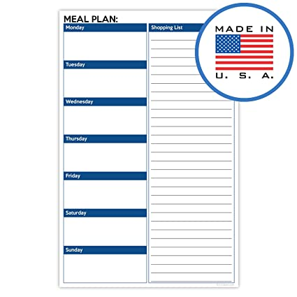 amazon com 321done meal planning pad 50 sheets 5 5 x 8 5