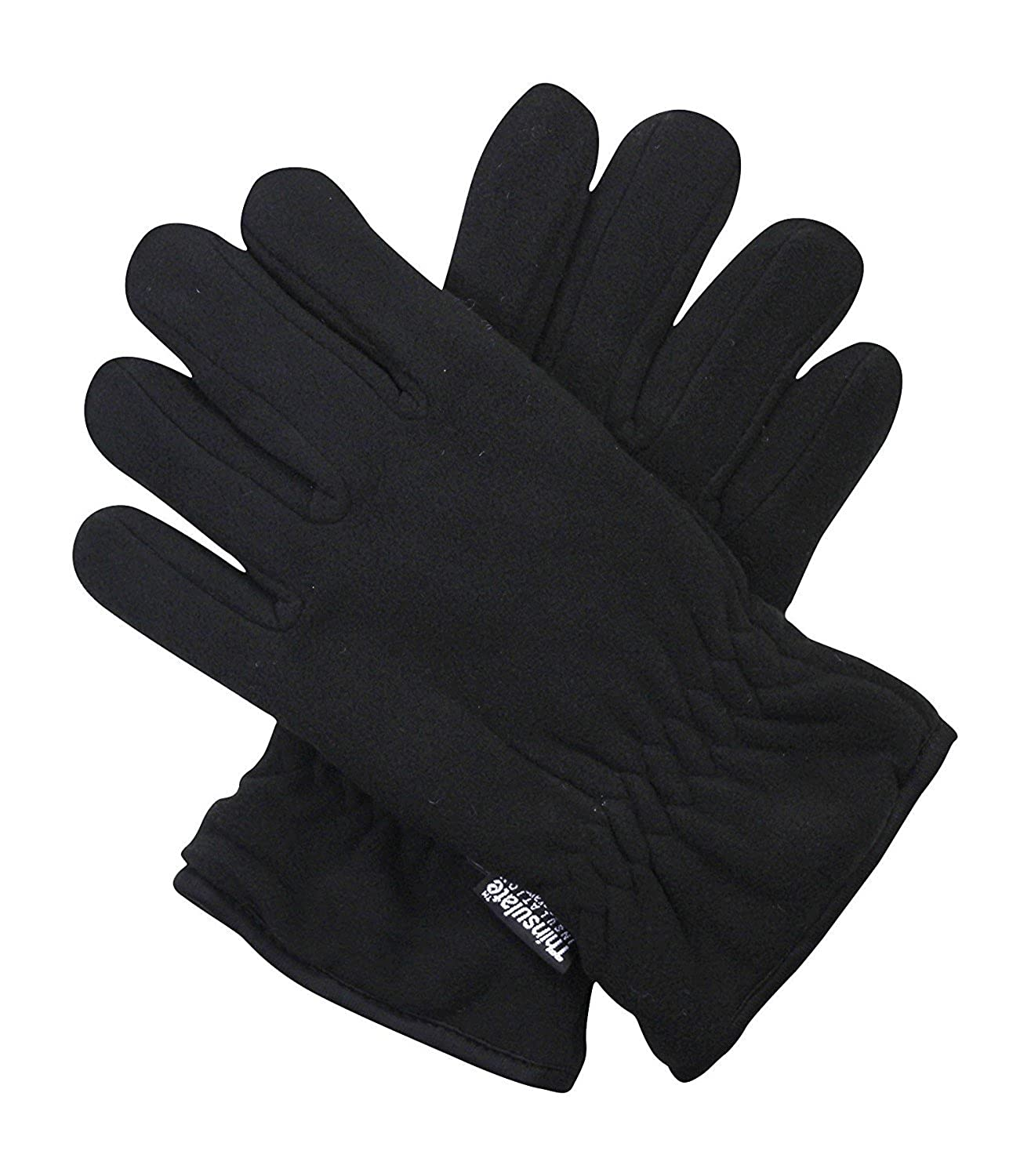 3a4c74115eb12 Black 40g Thermal Insulation Polar Fleece Winter Gloves - One Size Fits Al  at Amazon Men s Clothing store