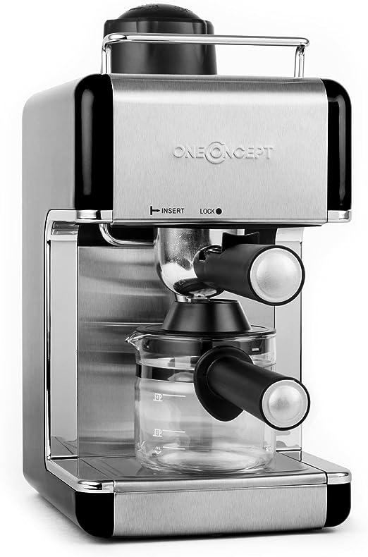 oneConcept Sagrada Nera cafetera espresso de acero inoxidable (800 ...