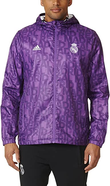 adidas pour Homme Real Madrid Coupe Vent Soccer Veste Sweat