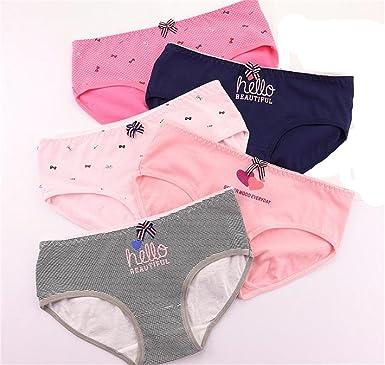 8d055de3e 4 Pcs Packed B-Hello Cotton Girl Women Briefs Panties Underpants Lingerie  Underwear L-
