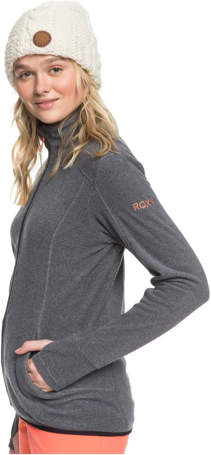 Roxy Damen Harmony - Fleece mit Stehkragen und Reißverschluss True Black