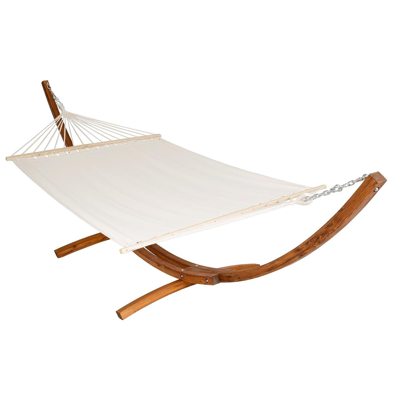 Gartenliege 2 personen dach  Amazon.de: TecTake® 400 CM XXL Hängematte mit Gestell Holz + Dach ...